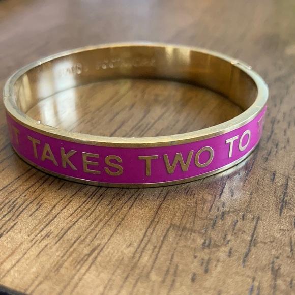 Kate Spade It Takes Two to Tango hinged bracelet